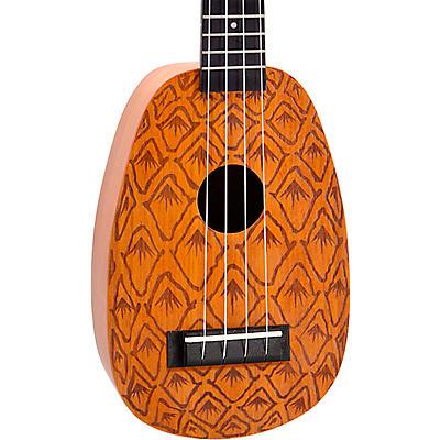 Mahalo Pineapple Laser Engraved Soprano Ukulele