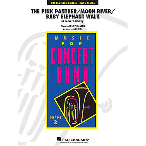 Hal Leonard Pink Panther/Moon River/Baby Elephant Walk (Concert Medley) - Young Concert Band Level 3 by John Moss
