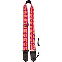 Perri's Pink Pineapples Fabric Ukulele Strap