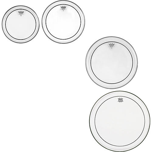 Remo Pinstripe Clear 4-piece Tom Drumhead Pack