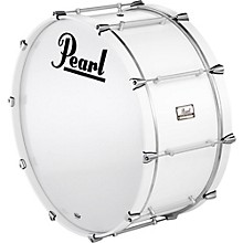 Pipe Band Bass Drum with Tube Lugs #109 Arctic White 26x12