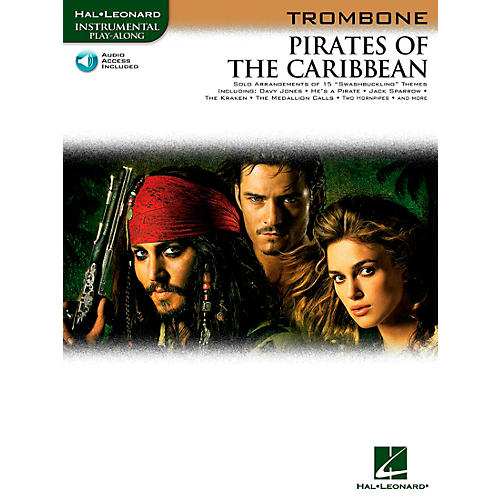 Hal Leonard Pirates Of The Caribbean for Trombone Instrumental Play-Along (Book/Online Audio)