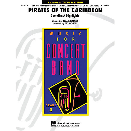 Hal Leonard Pirates of the Caribbean - Young Concert Band Series Level 3 arranged by Ted Ricketts