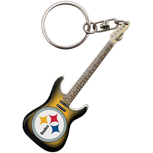 Woodrow Guitars Pittsburgh Steelers Electric Guitar Keychain