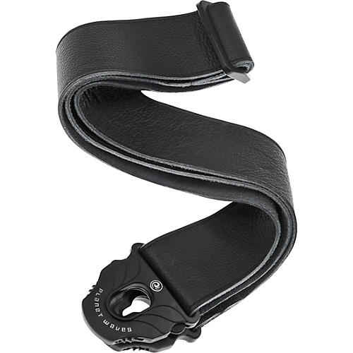 D'Addario Planet Waves Planet Lock Leather Guitar Strap Black