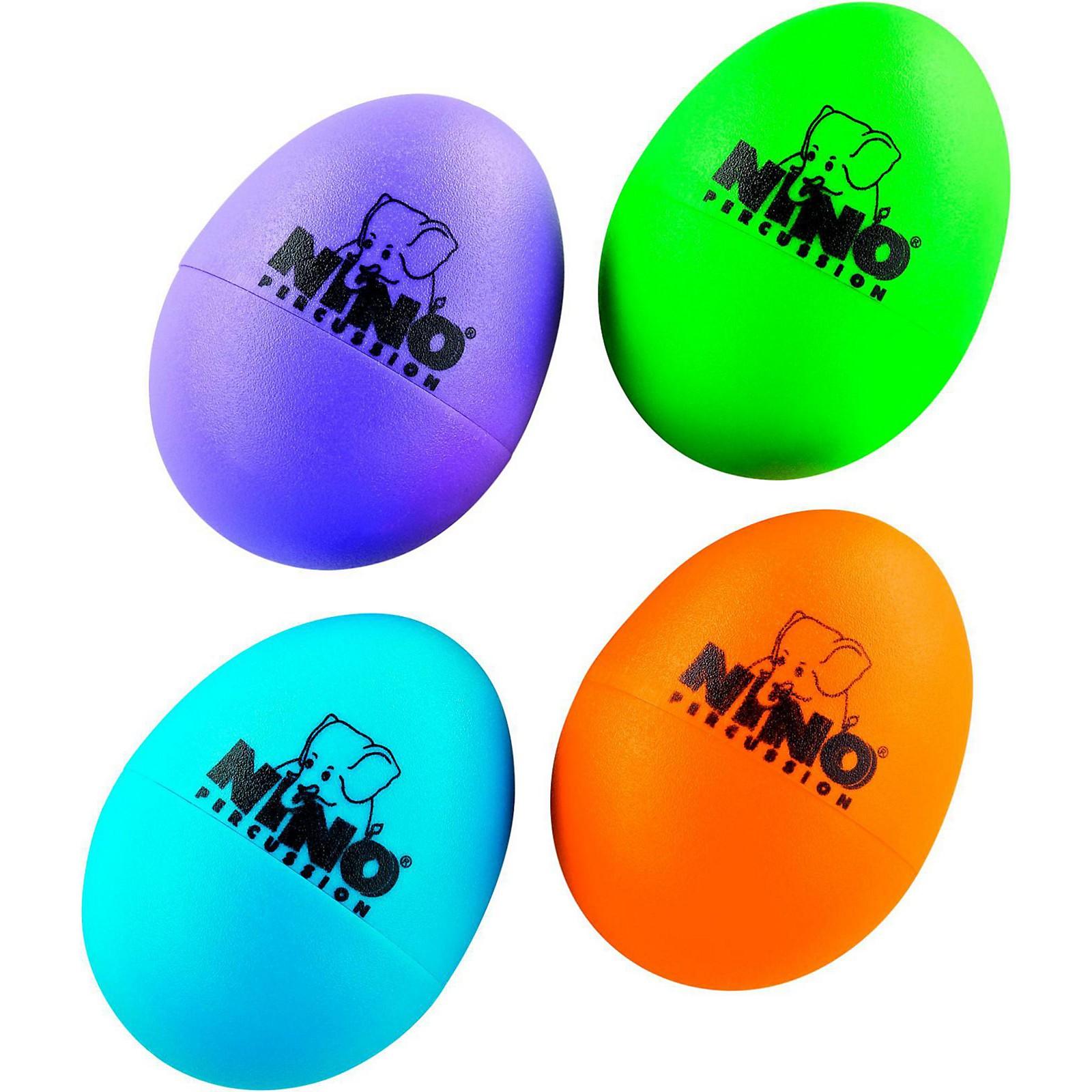 Nino Plastic Egg Shaker 4 Piece Assortment