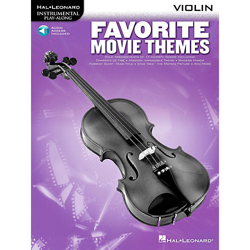 Hal Leonard Play-Along Favorite Movie Themes Book with CD French Horn