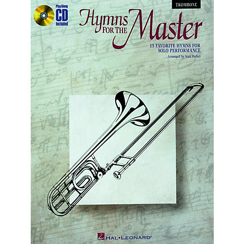 Hal Leonard Play Along Hymns for The Master (Book/CD) Trombone