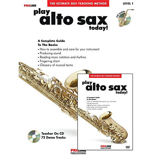 Proline Play Alto Sax Today Beginner's Pack Book/CD/DVD