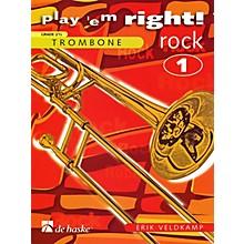 Hal Leonard Play 'Em Right Rock - Vol. 1 (Trombone) De Haske Play-Along Book Series Arranged by Erik Veldkamp