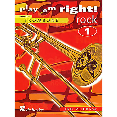 Hal Leonard Play 'Em Right Rock - Vol. 1 (Trombone) De Haske Play-Along Book Series Arranged by Erik Veldkamp
