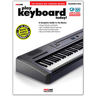 Proline Play Keyboard Today! Beginner's Pack Book/Audio & Video Online