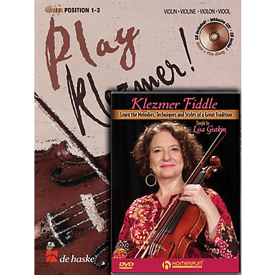 Homespun Play Klezmer - Violin/Fiddle Bundle Pack Homespun Tapes Series Performed by Lisa Gutkin