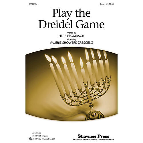 Shawnee Press Play the Dreidel Game 2-Part composed by Herb Frombach