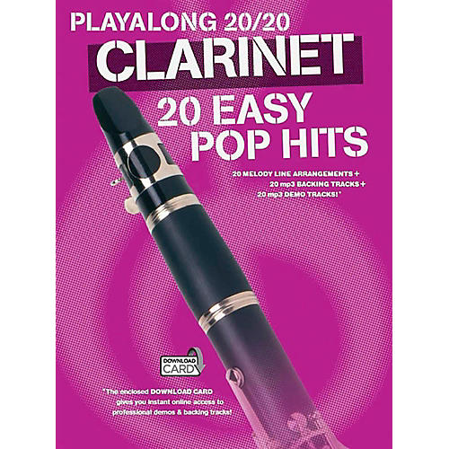 Music Sales Playalong 20/20 Clarinet - 20 Easy Pop Hits (Book/Audio)