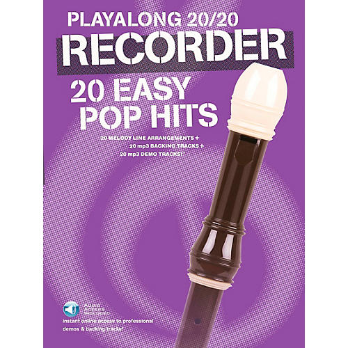 Music Sales Playalong 20/20 Recorder - 20 Easy Pop Hits (Book/Audio)