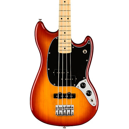 Fender Player Mustang PJ Bass with Maple Fingerboard Sienna Sunburst