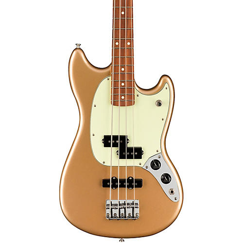 Fender Player Mustang PJ Bass with Pau Ferro Fingerboard Firemist Gold