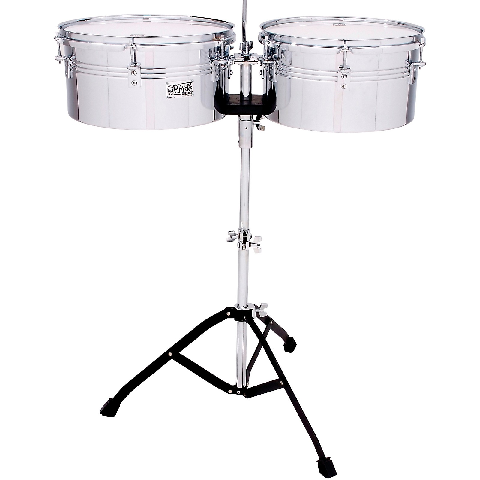 Toca Players Series Timbale Set with 13 and 14 in. steel drums and single braced stand