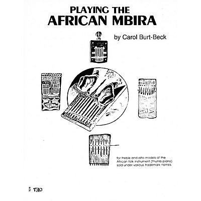 Hal Leonard Playing African Mbira Richmond Music ¯ Folios Series