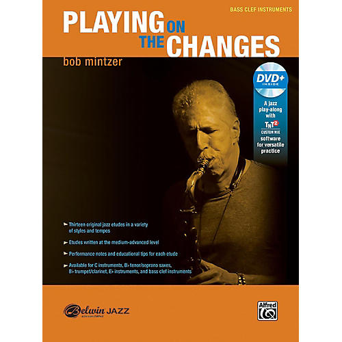 BELWIN Playing on the Changes Bass Clef Instruments Book & DVD