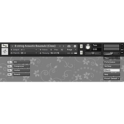 Impact Soundworks Plectra Series 1 - 8-String Acoustic Bouzouki (Download)