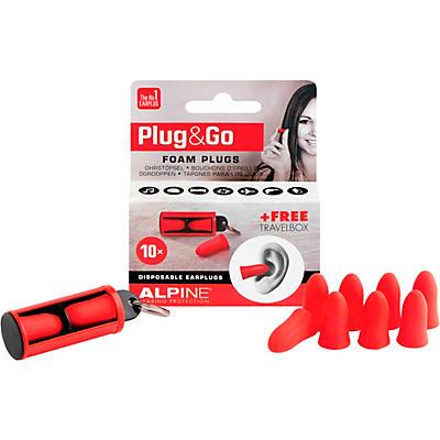 Alpine Hearing Protection Plug & Go Foam Earplugs