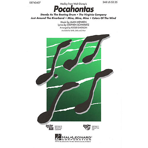 Hal Leonard Pocahontas (Medley) 2-Part Arranged by Roger Emerson