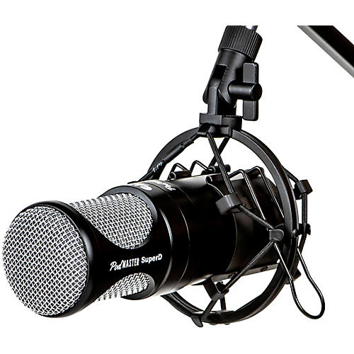 CAD PodMaster SuperD Professional Broadcast/Podcasting Microphone with SuperD Large Diaphragm Capsule Black