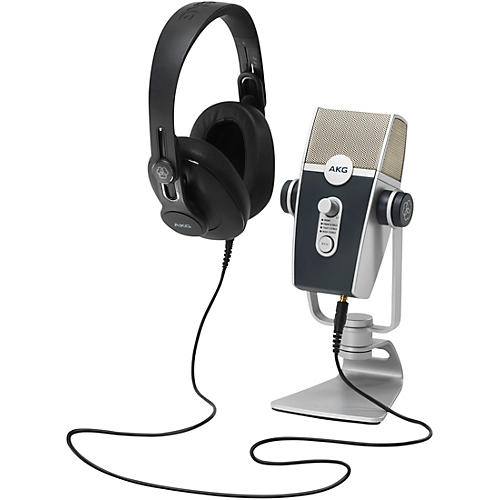 AKG Podcaster Essentials With Lyra USB Microphone and K371 Headphones