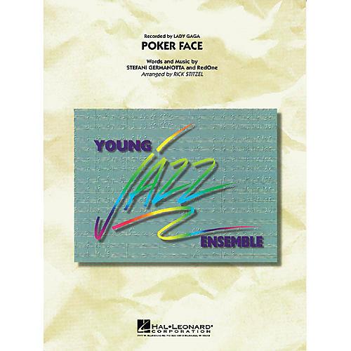 Hal Leonard Poker Face Jazz Band Level 3 by Lady Gaga Arranged by Rick Stitzel