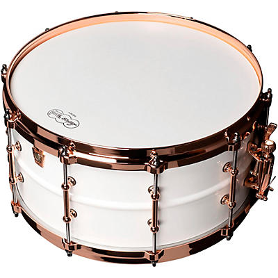 Ludwig Polar-Phonic Brass Snare Drum With Copper Hardware
