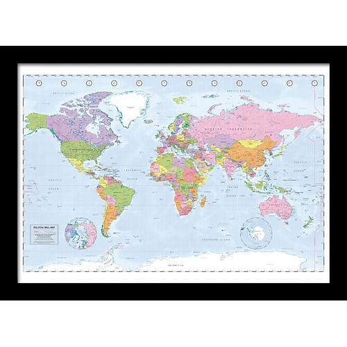 Ace Framing Political Map 24x36 Poster
