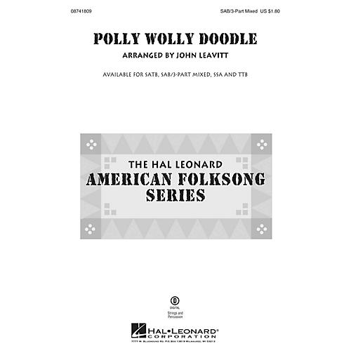 Hal Leonard Polly Wolly Doodle 3-Part Mixed arranged by John Leavitt