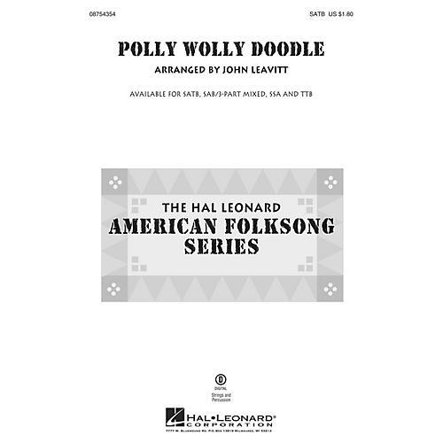 Hal Leonard Polly Wolly Doodle TTB Arranged by John Leavitt