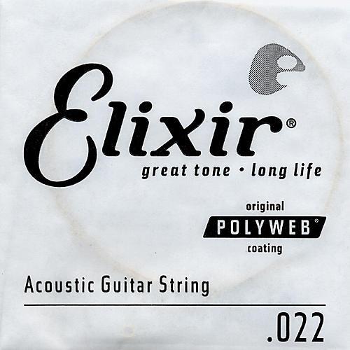 Elixir Polyweb .022 Acoustic Guitar String 4-Pack Singles