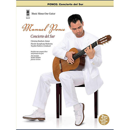 Music Minus One Ponce: Concierto Del Sur (Guitar Play-Along) Music Minus One Series Softcover with CD