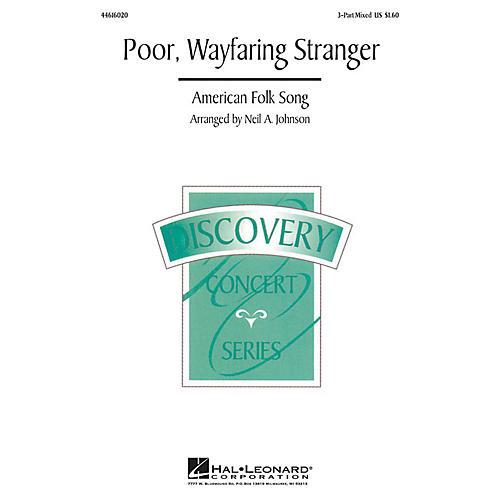 Hal Leonard Poor, Wayfaring Stranger 3-Part Mixed arranged by Neil Johnson