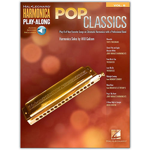 Hal Leonard Pop Classics Harmonica Play-Along Volume 8 Book/Audio Online