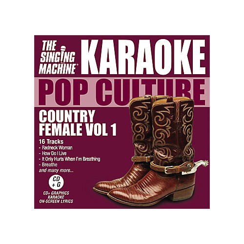 The Singing Machine Pop Culture Country Female Volume 1 Karaoke CD+G