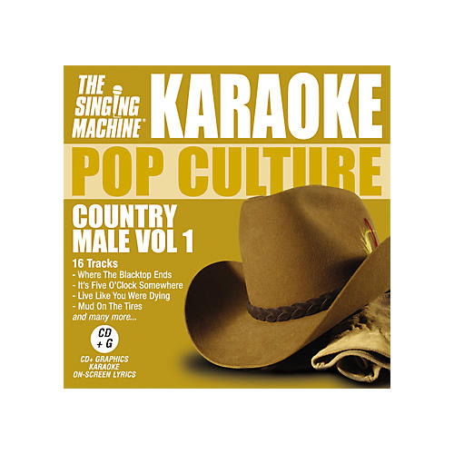 The Singing Machine Pop Culture Country Male Volume 1 Karaoke CD+G