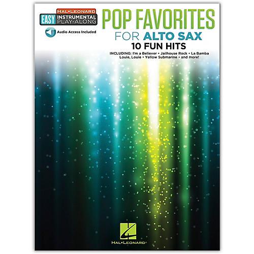 Hal Leonard Pop Favorites for Alto Sax Easy Instrumental Play-Along Book/Audio Online