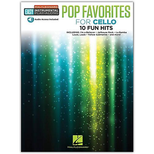 Hal Leonard Pop Favorites for Cello Easy Instrumental Play-Along Book/Audio Online