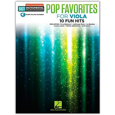 Hal Leonard Pop Favorites for Viola Easy Instrumental Play-Along Book/Audio Online