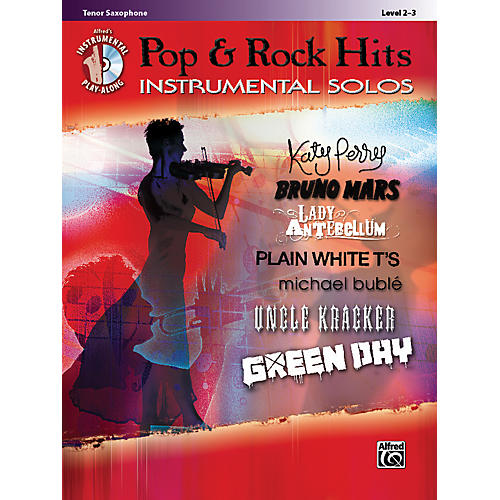 Alfred Pop & Rock Hits Instrumental Solos Tenor Saxophone Book & CD