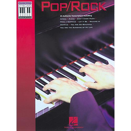 Hal Leonard Pop Rock Keyboard Transcriptions Songbook