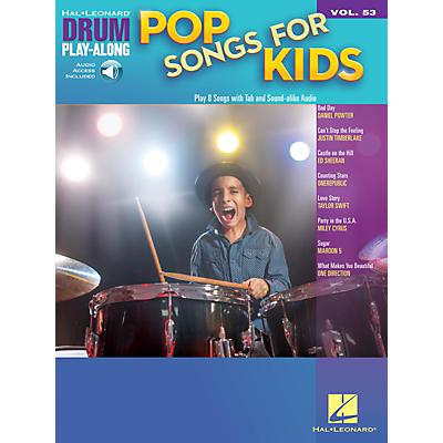 Hal Leonard Pop Songs for Kids Drum Play-Along Volume 53 Book/Audio Online