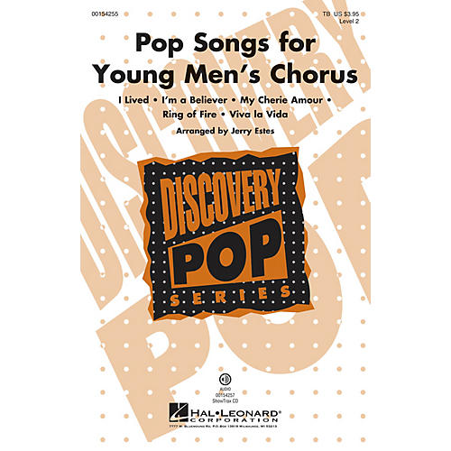 Hal Leonard Pop Songs for Young Men's Chorus (Discovery Level 2) TB arranged by Jerry Estes