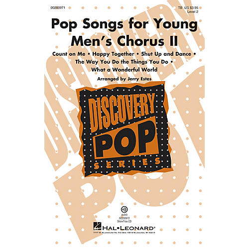 Hal Leonard Pop Songs for Young Men's Chorus II (Discovery Level 2) ShowTrax CD Arranged by Jerry Estes