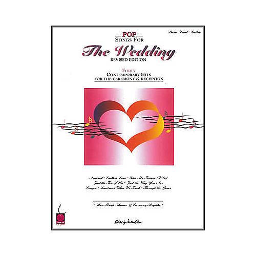 Cherry Lane Pop Songs for the Wedding - Revised Edition Piano/Vocal/Guitar Songbook